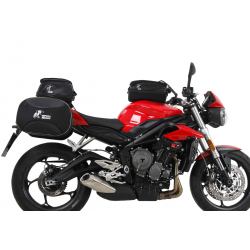 Street Triple 765 S/R/RS à partir de 2017 ✓ Supports sacoches Hepco Becker type C-Bow