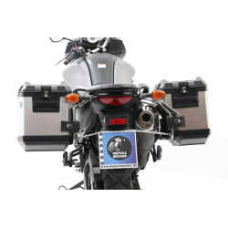 V-Strom 650 ABS (L2) / XT 2012-2016 ✓ Ensemble supports + valises Xplorer Cutout Set - Noir