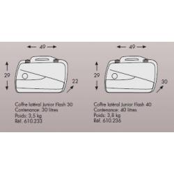LE COIN DES BONNES AFFAIRES ✓ Valises Junior Flash Silver 30/40 litres HEPCO-BECKER