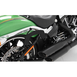 FXSB 1690 Softail Breakout ✓ Supports sacoches laterales Hepco-Becker type C-Bow NOIR