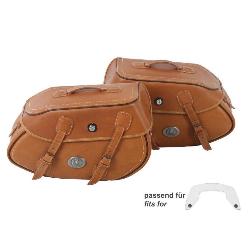 Bagagerie Hepco-Becker / Krauser ✓ Sacoches Cuir Buffalo 30 litres Marron C-Bow HEPCO-BECKER