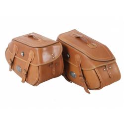 Bagagerie Hepco-Becker / Krauser ✓ Sacoches Cuir Buffalo 30 litres Marron Leather Bag HEPCO-BECKER