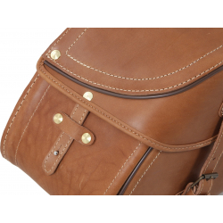 Bagagerie Hepco-Becker / Krauser ✓ Sacoches Cuir Buffalo 30 litres Marron Leather Bag HEPCO-BECKER - La paire