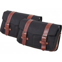 Bagagerie Hepco-Becker / Krauser ✓ Sacoche Legacy BLACK Courier Bag Pack M/M - Type C-Bow - La paire