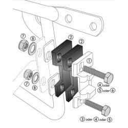 Bagagerie Hepco-Becker / Krauser ✓ Plaques arrières pour supports valises Alu Standard Hepco-Becker - L'unité