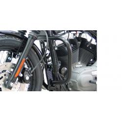 Sportster 833 Custom ✓ Pare carters (2004-) noir