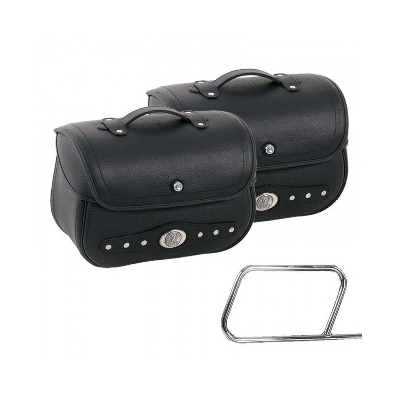 Bagagerie Hepco-Becker / Krauser ✓ Sacoches cuir Nevada 28 litres Leather Bag HEPCO-BECKER - La paire