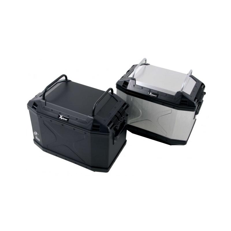Bagagerie Hepco-Becker / Krauser ✓ Porte bagage Noir Valises Xplorer 30