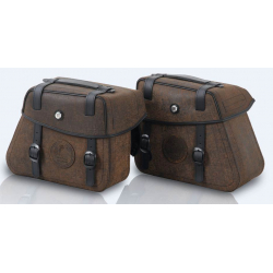 Bagagerie Hepco-Becker / Krauser ✓ Sacoches Cuir Rugged Brown Cutout HEPCO-BECKER