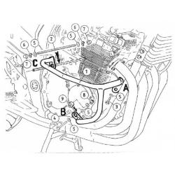 GSF 650 / S Bandit sans ABS 2005-2006 ✓ Pare-carters Hepco-Becker