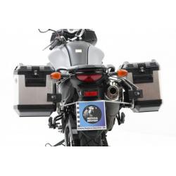 V-Strom 650 ABS (L2) / XT 2012-2016 ✓ Ensemble supports + valises Xplorer Cutout Set - Alu