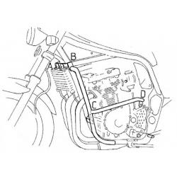 GSF 1200 S/N Bandit 1996-2000 ✓ Pare carters Hepco-Becker Noir