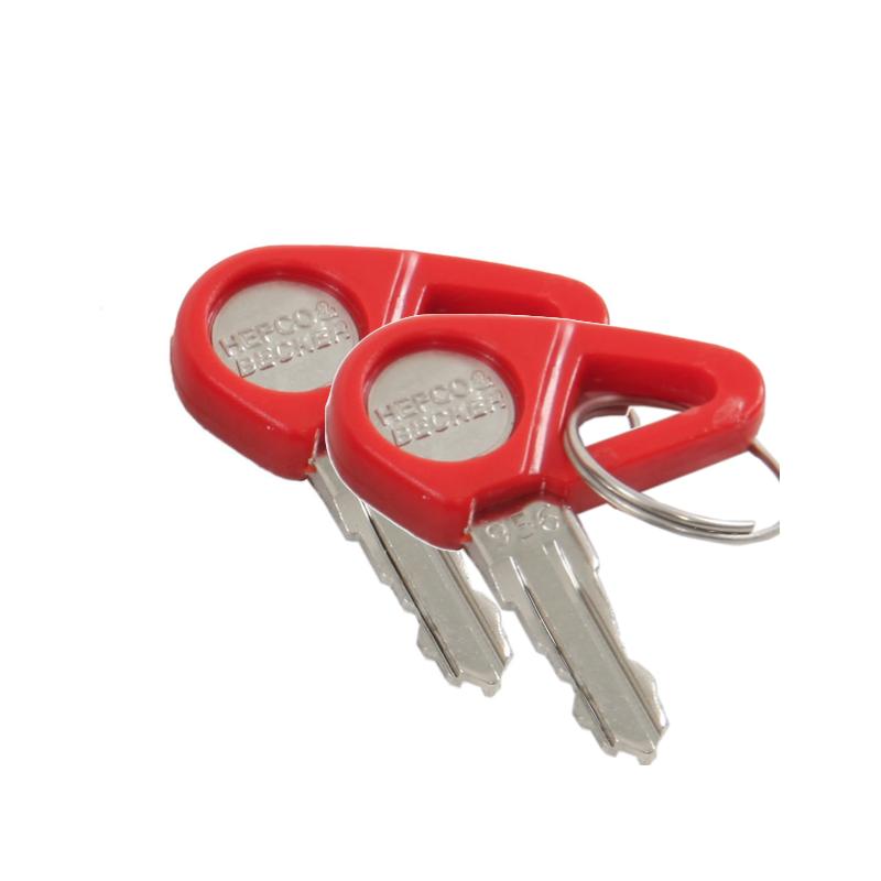 Bagagerie Hepco-Becker / Krauser ✓ 1 paire de clés pour Valises et Top case Hepco-Becker
