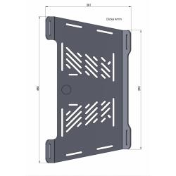 Bagagerie Hepco-Becker / Krauser ✓ Extension porte bagages Noir Hepco-Becker