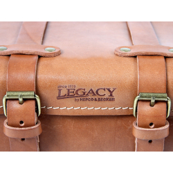 Bagagerie Hepco-Becker / Krauser ✓ Sac arrière Legacy Cuir MARRON
