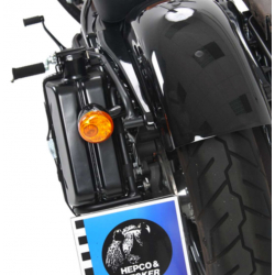 1690 Dyna Switchback ✓ Support Cutout + Canister 4L coté gauche Hepco-Becker